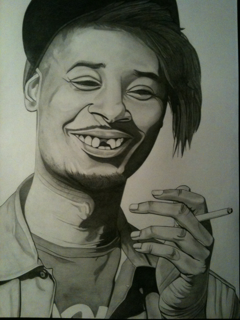 Danny Brown 420 by 297mm Pencil on paper