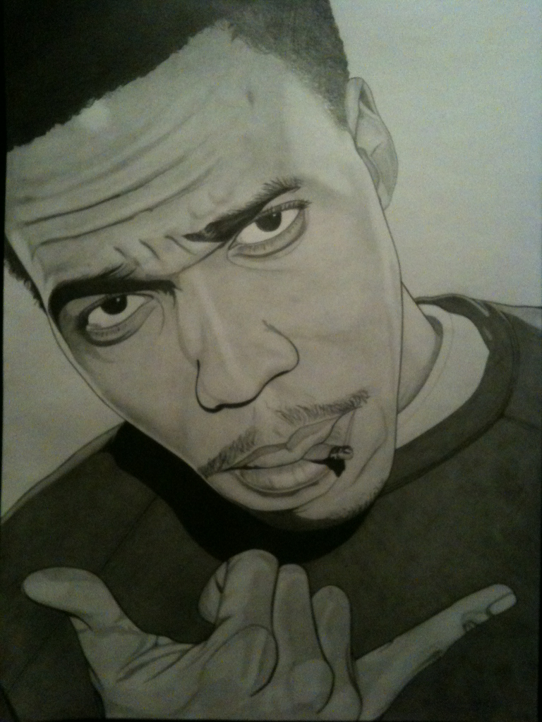 Curren$y Spitta 420 by 297mm Pencil on paper