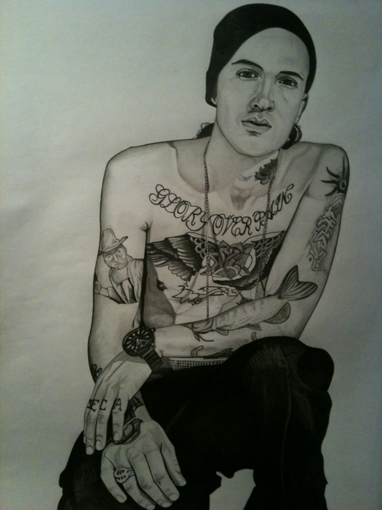 Yelawolf 420 by 297mm Pencil on paper