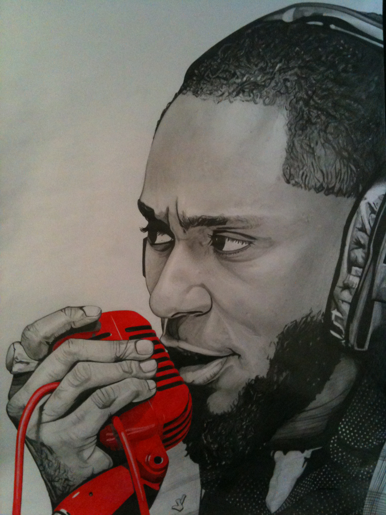 Mos Def 420 by 297mm Pencil on paper