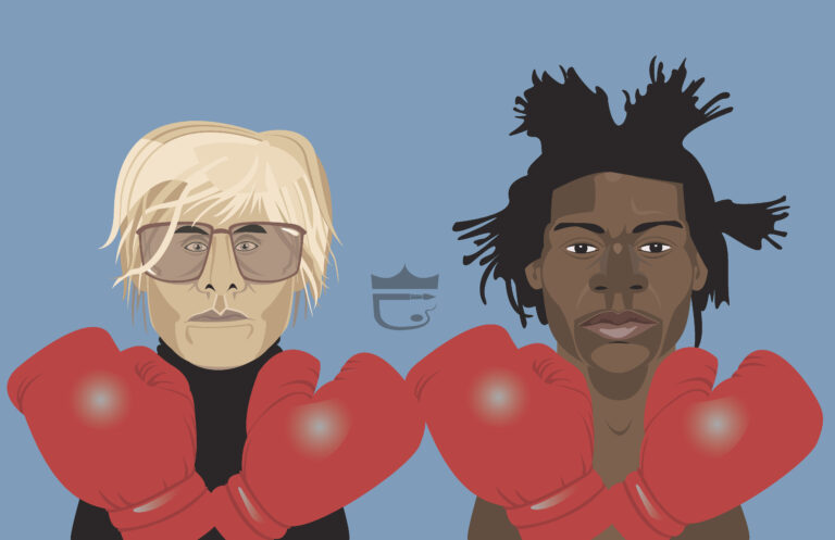 Warhol Basquiat Illustration