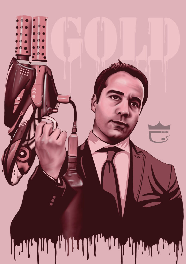 Ari Gold Entourage Painting