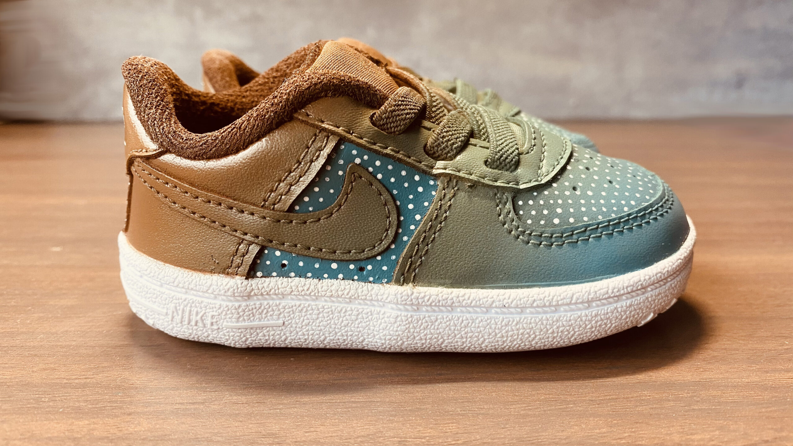 Baby AF1 Faded Dots Brown