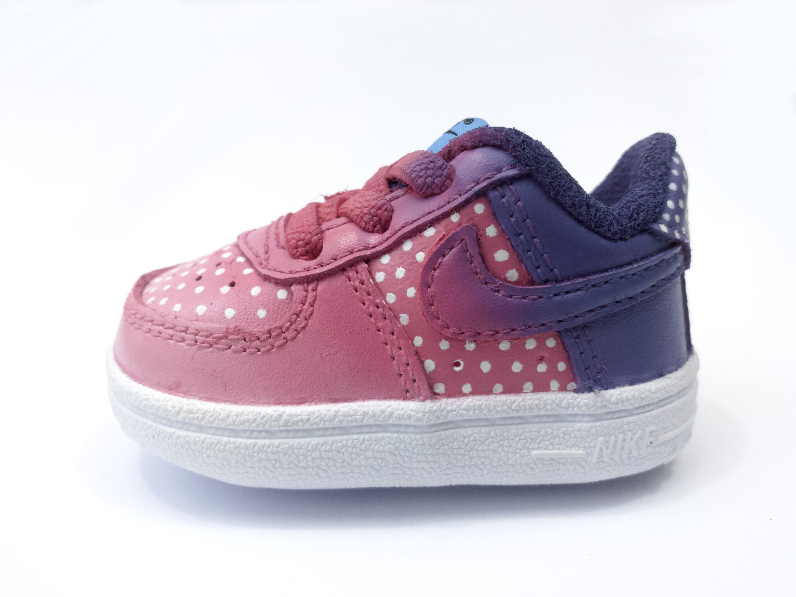 Baby AF1 Faded Dots Pink